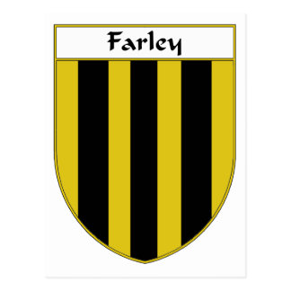 Farley Coat of Arms/Family Crest Postcard
