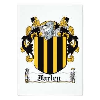 Farley Family Crest Personalized Announcements
