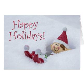 Farley the Elf Christmas Card
