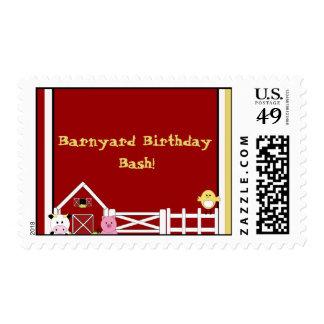 farm2 copy, Barnyard Birthday Bash! Postage Stamp