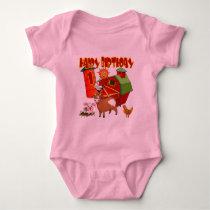 Farm 1st Birthday Baby Bodysuit