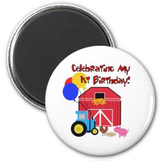 Farm 1st Birthday Magnet