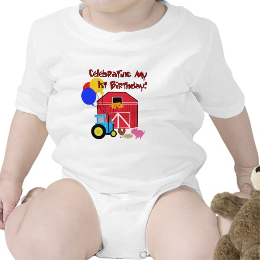 Farm 1st Birthday Tshirts and Gifts