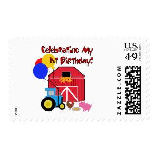 Farm 1st Birthday Tshirts and Gifts Postage