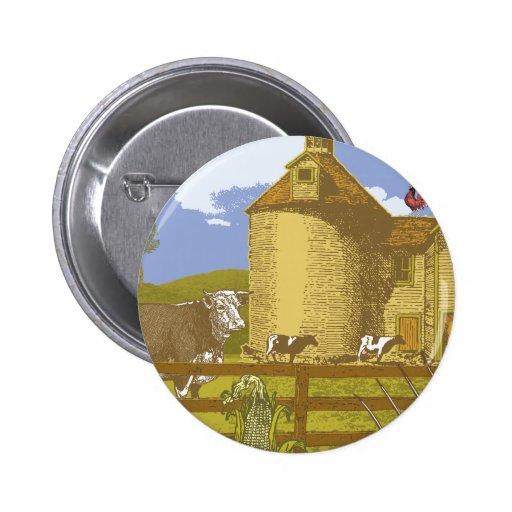 Farm 2 Inch Round Button
