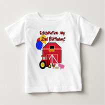 Farm 2nd Birthday Baby T-Shirt