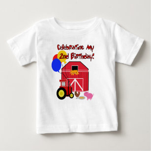 Farm 2nd Birthday Baby T Shirt