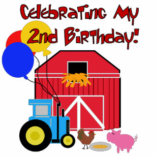 Farm 2nd Birthday Tshirts And Gifts