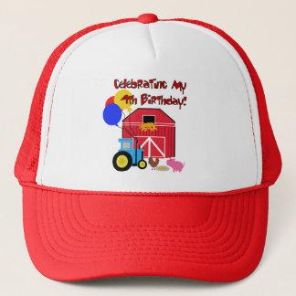 Farm 4th Birthday Tshirts and Gifts Trucker Hat