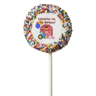 Farm 5th Birthday Dipped Oreos Chocolate Covered Oreo Pop