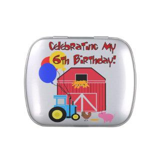 Farm 6th Birthday Candy Tins and Jars