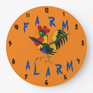 Farm Alarm Large Clock