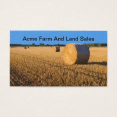 Farm And Land Sales Realtor Business Card at Zazzle