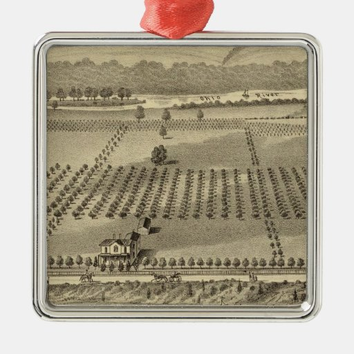 Farm and residences of Joseph Metal Ornament