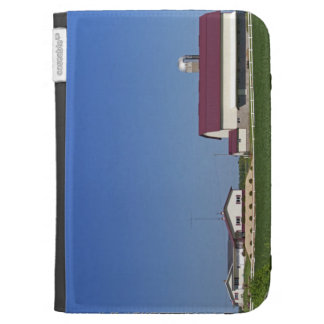 Farm and soybean crop north of Eau Claire Kindle Folio Case