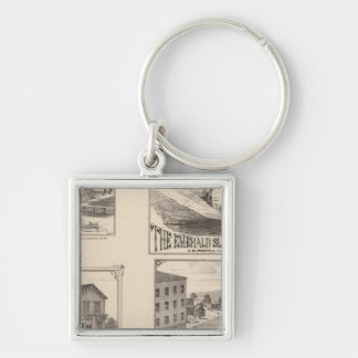 farm and waterworks in Hydeville Keychain