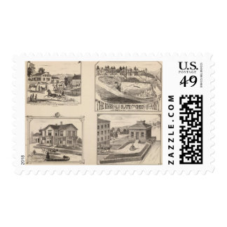 farm and waterworks in Hydeville Postage