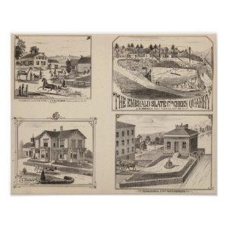 farm and waterworks in Hydeville Poster