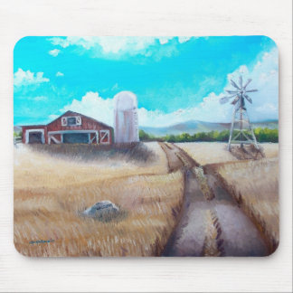 Farm and Windmill Mouse Pad