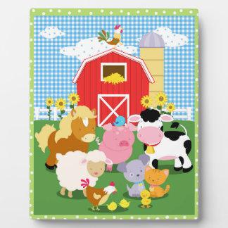 Farm Animal Art Easel Plaque