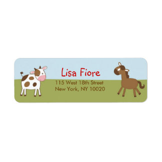 Farm Animal Baby Shower Address Labels