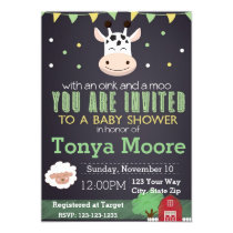 Farm Animal Baby Shower Invitation