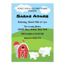 Farm Animal Baby Shower Invitation
