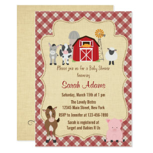 Animal Baby Shower Invitations Announcements Zazzle