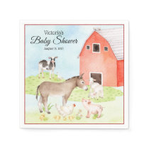 Farm Animal Baby Shower Paper Napkins