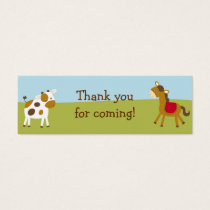 Farm Animal Barnyard Baby Shower Favor Gift Tags
