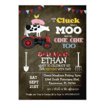 Farm Animal Barnyard Birthday Invitation