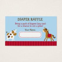 Farm Animal Barnyard Diaper Raffle Tickets