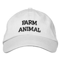 Farm Animal Baseball Embroidered Baseball Hat