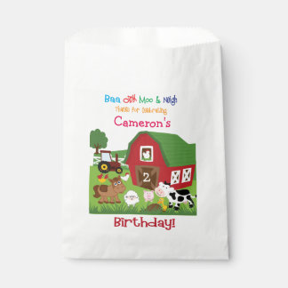 Farm Animal Birthday Goody/Favor Bag