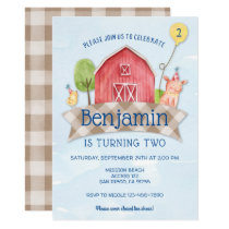 farm animal birthday invitation, FARM ANIMAL 1ST Invitation