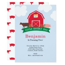 Farm Animal Birthday Party Invitation