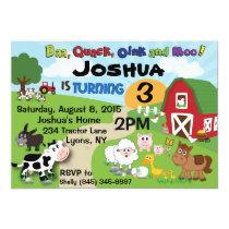 Farm Animal Children's Invitation