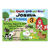 Farm Animal Children's Invitation