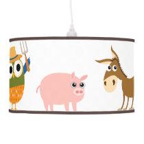 Farm Animal Children's Room Custom Lamp