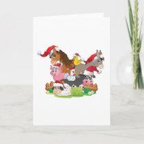 Farm Animal Christmas Holiday Card