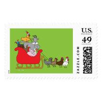 Farm Animal Christmas Postage