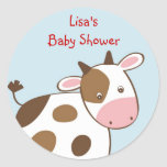 Farm Animal Cow Envelope Seals Stickers Toppers