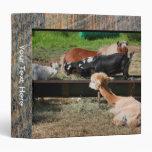 Farm Animal Friends Binder