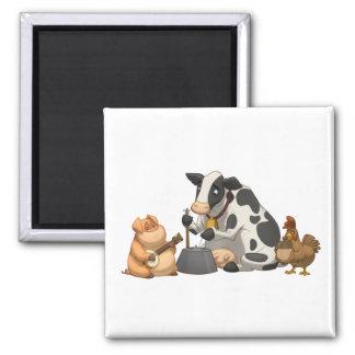 Farm Animal Jug Band Magnet