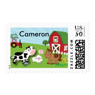 Farm Animal Personalized Stamp