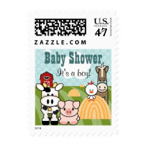 Farm Animal Postage Stamps
