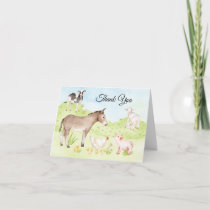 Farm Animal Thank You Cards