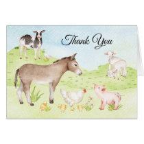 Farm Animal Thank You Cards