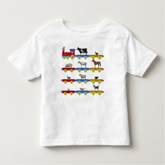 Farm Animal Train Toddler T-shirt
