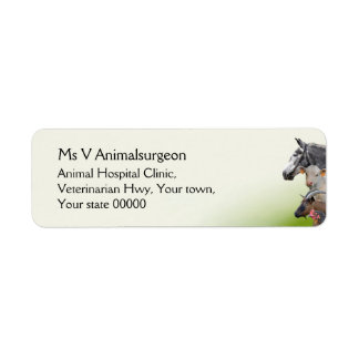 Farm animal veterinarian label